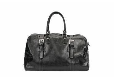 Кожаная дорожная мужская сумка
