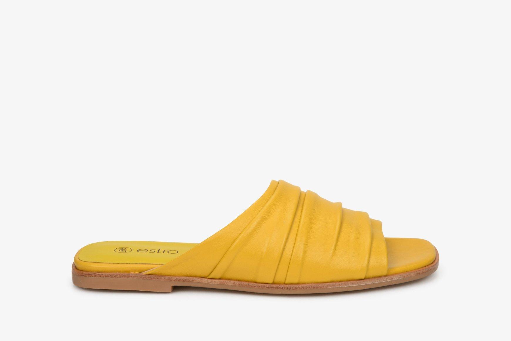 Шльопанці жіночі Estro жовті ER00107553 - Estro