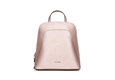 Рюкзак из серебряной сафьяновой кожи Perla