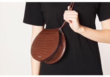Сумка mini bag кожаная Estro коричневая ER00106218