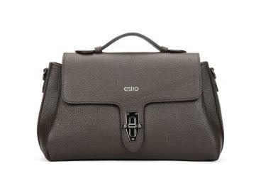 Сумка кроссбоди Estro тёмно-коричневая ER00105914