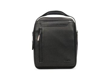 Мужская черная сумка почтальонка Estro ER00100935