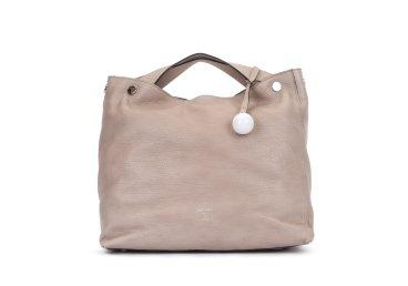 Кожаная сумка-шоппер Arcadia бежевая ER00102529