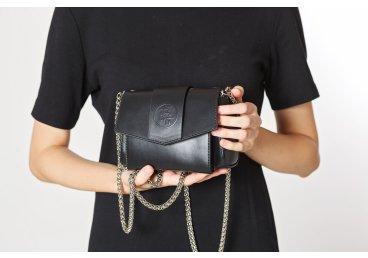 Сумка mini bag Estro чёрная ER00105907