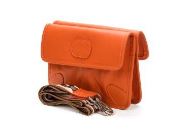 Сумка конверт кожаная Estro оранжевая ER00107720