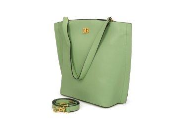 Сумка шоппер кожаная Estro зелёная ER00107697