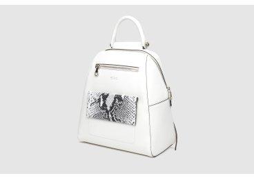 Рюкзак из натуральной кожи Estro белый er00105253