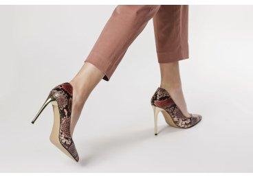 Туфли на шпильке estro рептилия er00104825