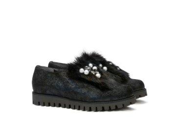 Туфли зимние Marzetti чёрные ER00100432