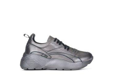 Кроссовки кожаные Estro серебряные ER00103960