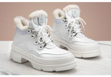 Черевики зимові Estro білі ER00106165