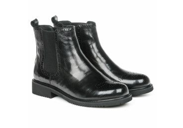 Ботинки кожаные estro чёрные ER00105352