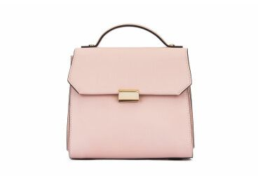 Сумка-флеп кожаная розовая Estro er00104905