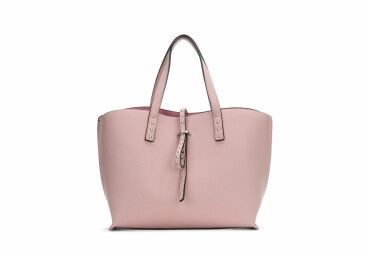 Сумка шоппер кожаная Estro розовая er00104932