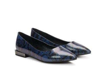 Туфли женские на низком ходу Estro синие ER00107025