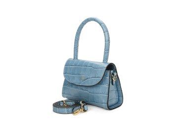 Сумка mini bag шкіряна Estro блакитна ER00107462