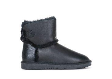 Угги кожаные зимние Estro чёрные ER00103893