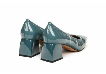 Туфли лаковые estro тёмно-бирюзовые er00105201