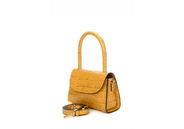 Сумка mini bag кожаная Estro желтая ER00107460