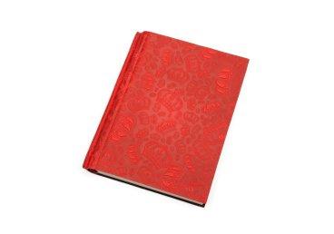 Ежедневник красный с кожаной обложкой