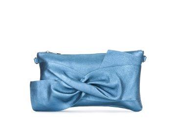 Кожаный клатч Estro синяя er00103299