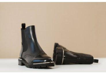 Ботинки челси estro чёрные ER00105617