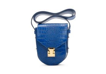 Сумочка mini-bag шкіряна Estro синя ER00107717