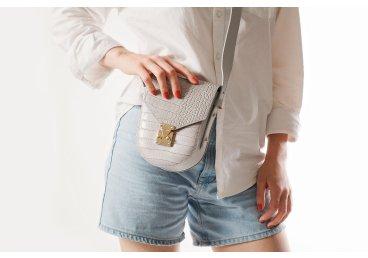 Сумочка mini-bag кожаная Estro серая ER00107716