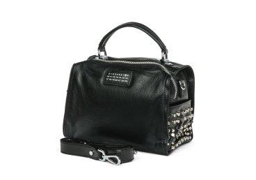 Сумка mini bag кожаная Estro чёрная ER00105335