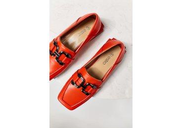 Лоферы оранжевые Estro ER00109564