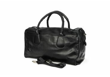 Дорожная сумка из натуральной кожи Estro чёрная er00104457