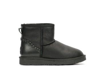 Угги женские кожаные Estro чёрные ER00101067