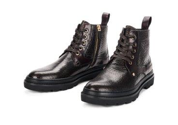 Ботинки мужские estro тёмно-коричневые ER00105477