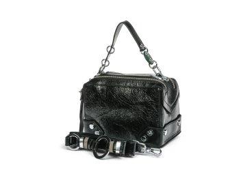 Сумка mini bag кожаная Estro чёрная ER00105331