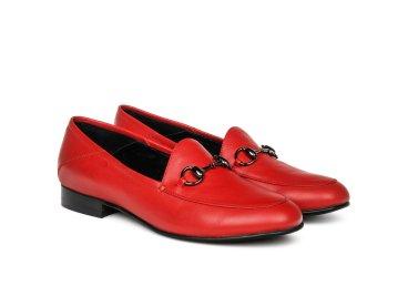 Лоферы женские estro красные ER00105457