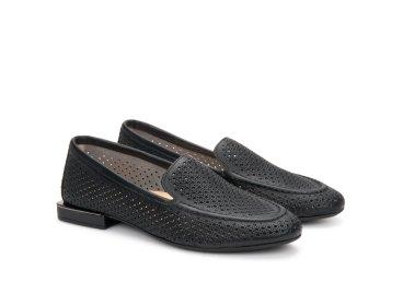 Туфлі з перфорацією літні Estro чорні ER00107161