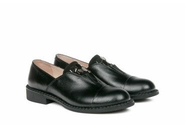 туфли кожаные estro чёрные ER00105348