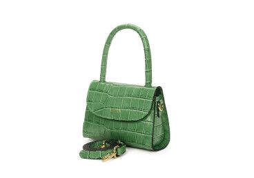 Сумка mini bag кожаная Estro зелёная ER00107461