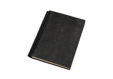 Ежедневник черный с кожаной обложкой