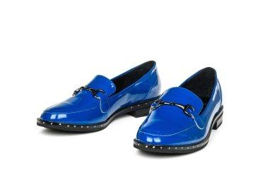 Лоферы женские estro синие ER00105456