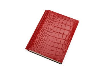 Ежедневник бордовый с кожаной обложкой