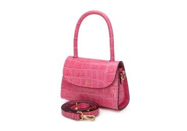 Сумка mini bag кожаная Estro розовая ER00107837