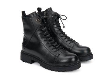 Ботинки на шнуровке демисезонные Estro чёрные ER00107895
