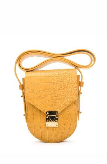Сумочка mini-bag кожаная Estro желтая ER00107718