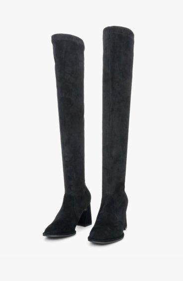 Стрейч-ботфорты черные Estro ER00108350
