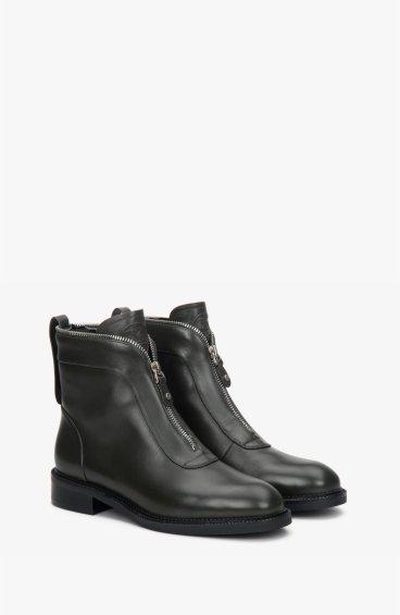 Ботинки темно-зеленые estro ER00108297