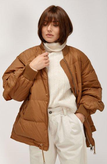 Куртка пуховая с воланом ER00108564