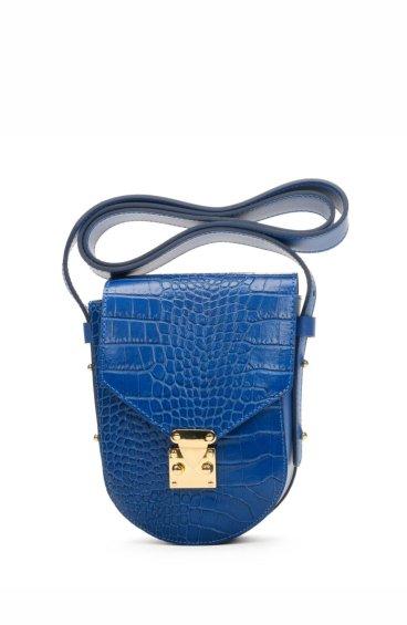 Сумочка mini-bag кожаная Estro синяя ER00107717