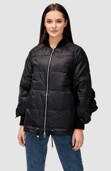 Куртка пуховая с воланом ER00108563