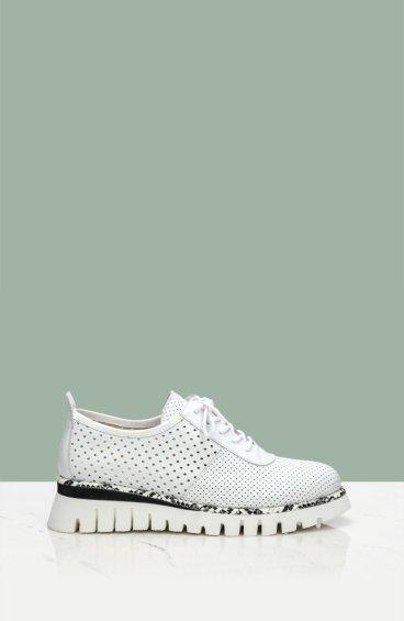 Туфли с перфорацией летние Estro белые ER00107130